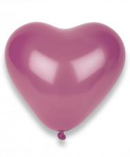 50 Ballons coeurs fuchsia 32 cm