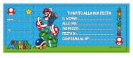 20 Cartes d'invitation Mario™