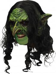 Masque 3/4 lutin vert effrayant