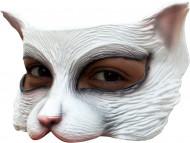Demi-masque chat blanc