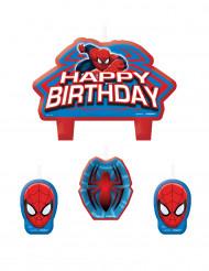 4 Bougies d'anniversaire Spiderman™