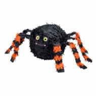 Piñata araignée noire et orange