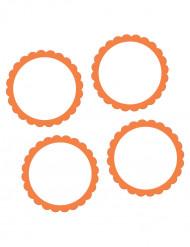 20 Étiquette autocollants oranges 5 cm
