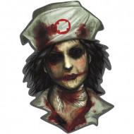 Décoration murale infirmière zombie
