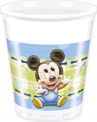 8 Gobelets Bébé Mickey ™ 20 cl