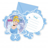 6 Cartes invitations + enveloppes Cendrillon™