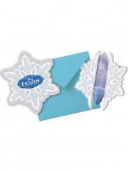 6 Cartes invitations + enveloppes La Reine Des Neiges™