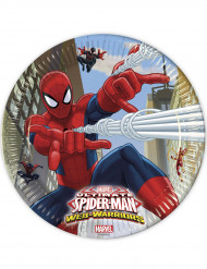 8 Assiettes en carton Spiderman Web-Warriors™ 23 cm