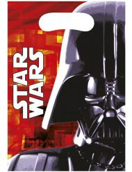 6 Sacs cadeaux Dark Vador Star Wars™ 16,5 x 23 cm
