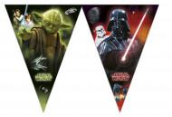 Guirlande fanions en plastique Star Wars™ 2.6 mètres