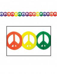 Guirlande multicolore en papier Hippie Peace
