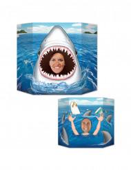 Passe tête en carton Requin 94 x 64 cm