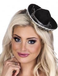 Mini chapeau sombrero noir femme