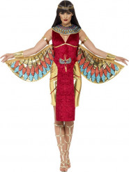Déguisement déesse égyptienne rouge luxe femme