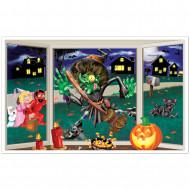 Décoration murale sorcière écrasée Halloween