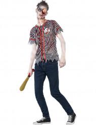 Déguisement zombie joueur de baseball adolescent Halloween