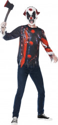 Kit complet clown sinistre adolescent Halloween