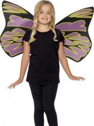 Ailes noires et violettes fluorescentes enfant