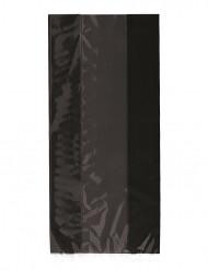 30 Sacs cadeaux en plastique noirs 13 x 28 cm