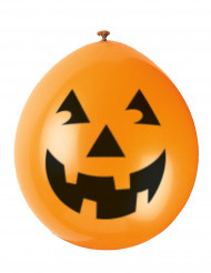 10 Ballons citrouille souriante Halloween