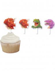 12 Décorations gâteaux anniversaire dinosaures 6,3 cm