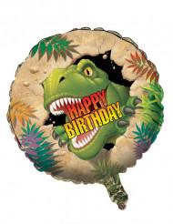 Ballon aluminium Anniversaire Dinosaures 46 cm