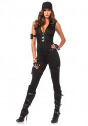 Déguisement SWAT sexy noir femme