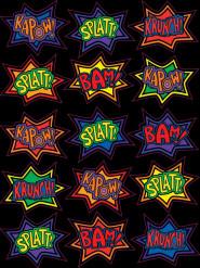 Stickers anniversaire Super-Héros