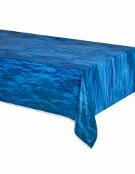 Nappe bleue en plastique vagues de l