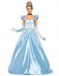 Déguisement princesse robe bleu satiné femme
