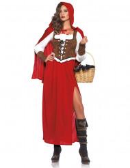 Déguisement chaperon rouge luxe femme
