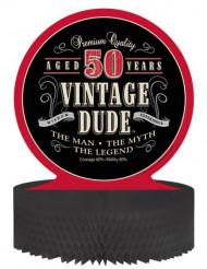 Centre de table anniversaire Vintage 50 ans