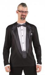 T-shirt costume gala noir adulte
