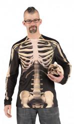 T-shirt squelette adulte Halloween