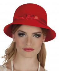 Chapeau charleston années 20 rouge femme