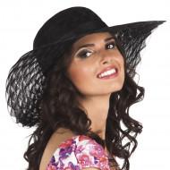 Chapeau été noir femme