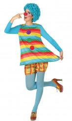 Déguisement clown à rayures femme