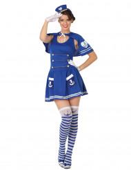 Déguisement marin robe bleu femme