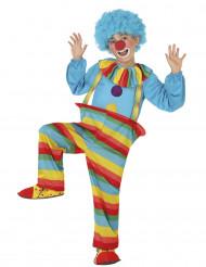 Déguisement clown à rayures garçon