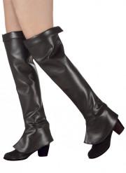 Sur-bottes noires femme