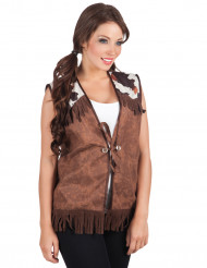 Veste western marron femme
