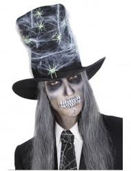 Chapeau haut de forme toile avec araignées adulte Halloween