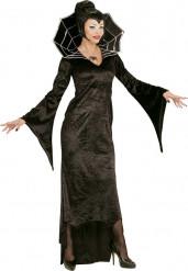 Déguisement comtesse araignée noire femme Halloween