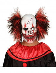 Masque latex clown rouge sanglant adulte Halloween