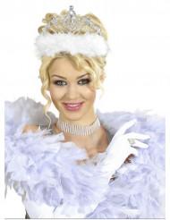 Diadème princesse avec fourrure blanche