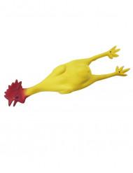 Poulet en caoutchouc rouge et jaune