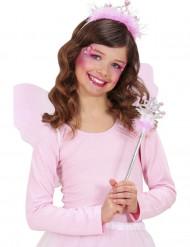 Baguette et tiare princesse rose