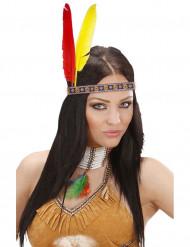 Bandeau indien avec plumes adulte