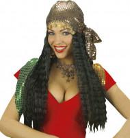 Perruque gipsy avec foulard femme