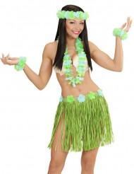 Kit hawaïen bleu et vert adulte